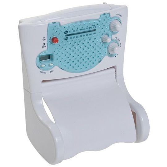 Держатель туалетной бумаги с радио и часами