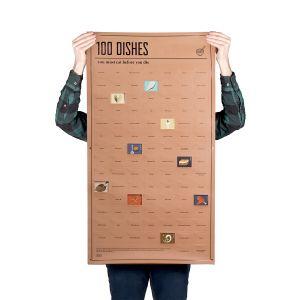 Плакат 100 блюд, которые нужно попробовать в жизни