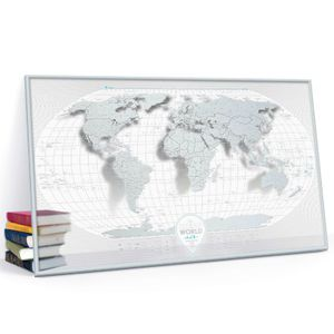 Скретч-карта мира Travel Map Air World в металлической раме (на английском)