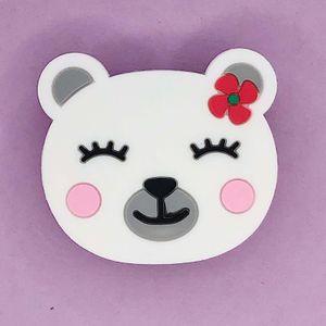 Попсокет Белая медведица White bear