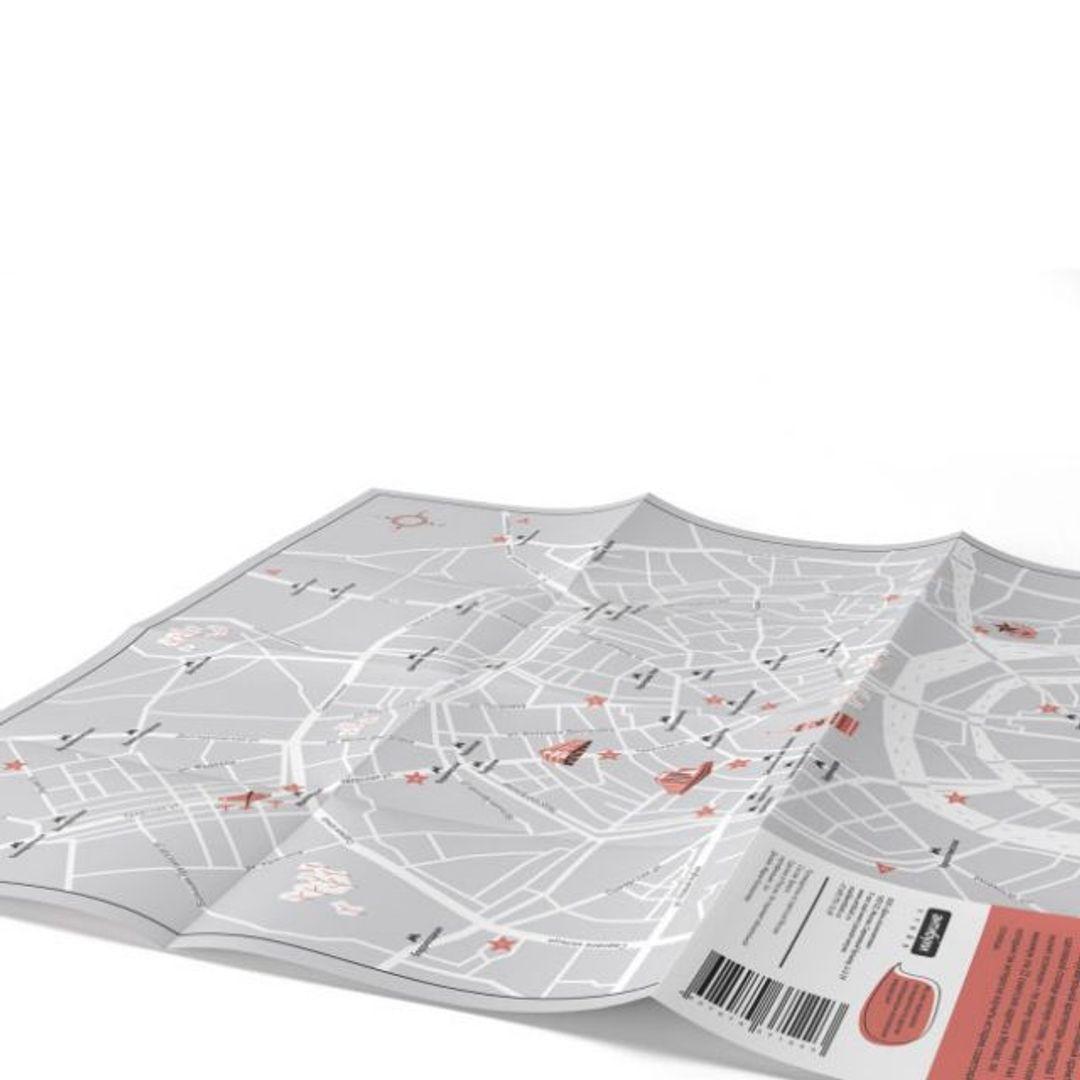 Путеводитель Советская Москва В развернутом виде, сторона с картой