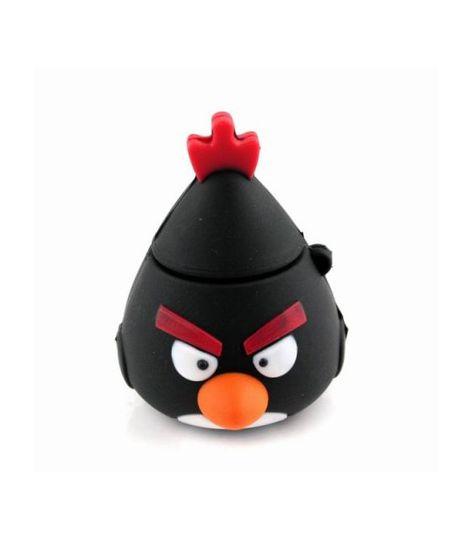 Флешка Angry Birds Черная птичка Объемная 4 Гб