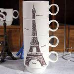 Набор чашек Эйфелева башня Без подставки
