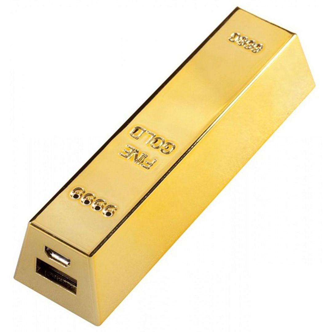 Внешний аккумулятор Power Bank Слиток золота