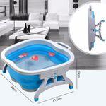 Складная ванночка для ног Foldable Foot Bucket (Серый с синим) Габариты