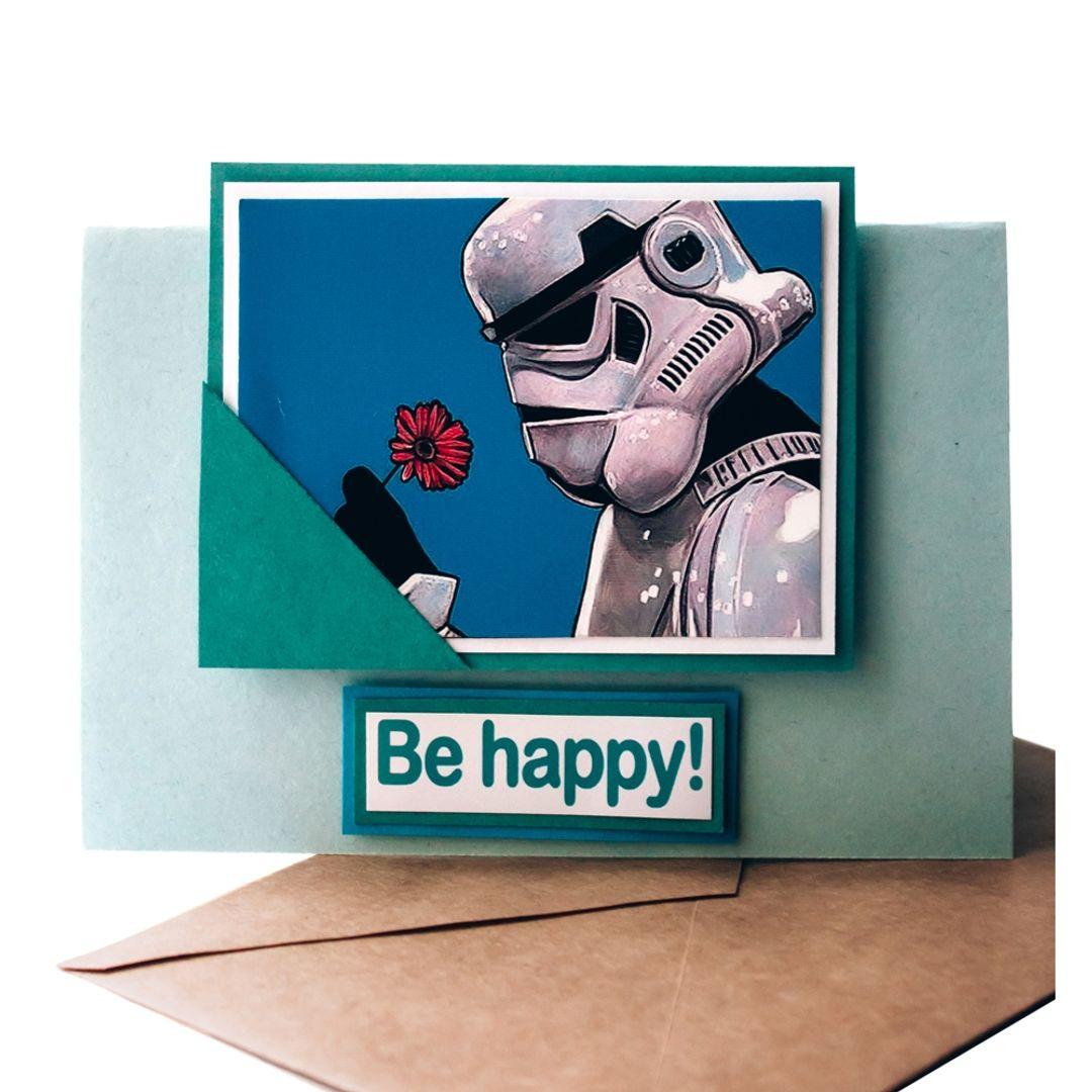 Открытка Star Wars Be happy! Штурмовик