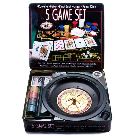 Игровой набор Казино (5 в 1)