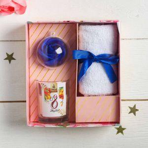 Подарочный набор с арома свечой Самая прекрасная
