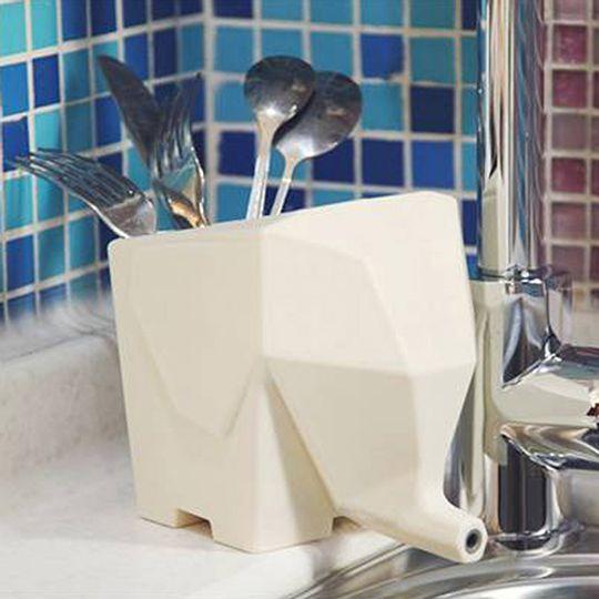 Горшок Слон (Белый) Со столовыми приборами