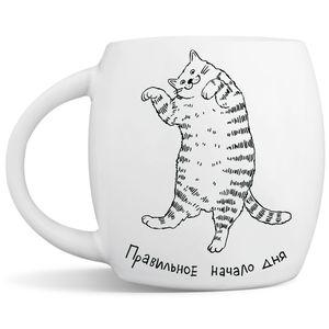 Кружка Ленивый кот Правильное начало дня