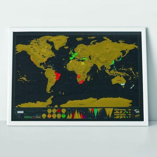 Скрэтч-карта мира Deluxe Edition (на английском)