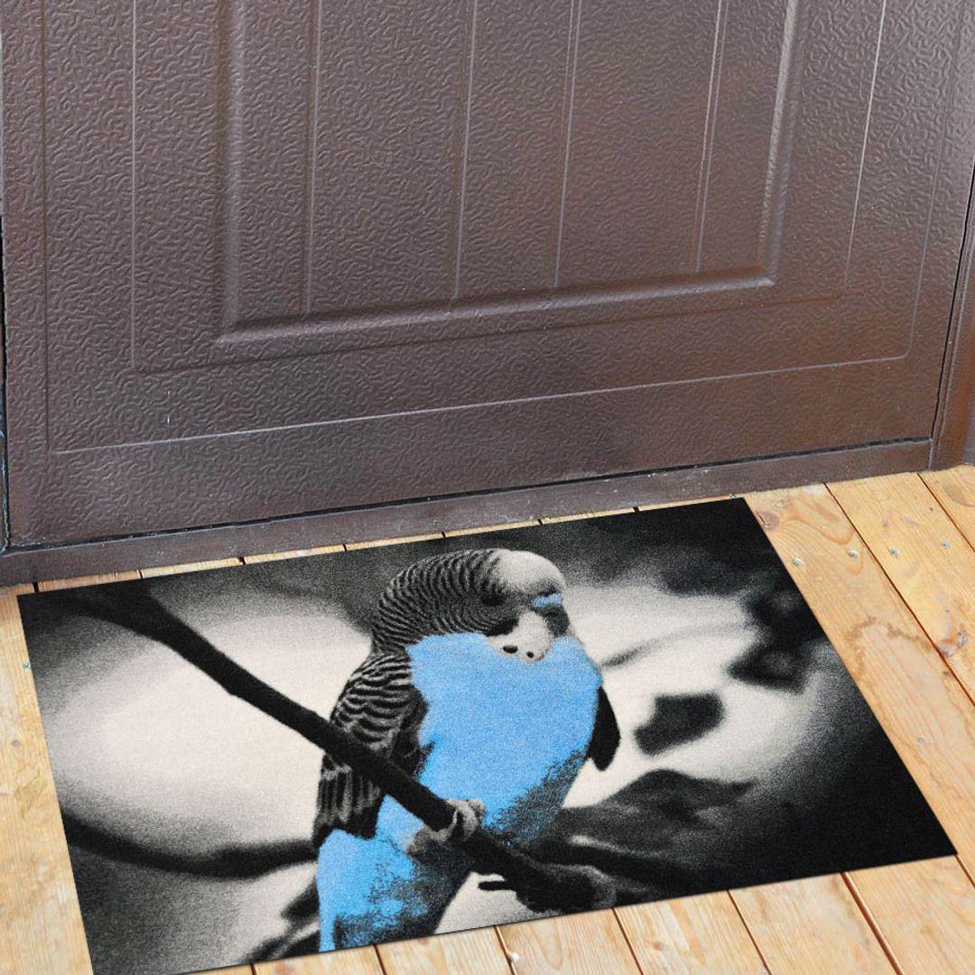 Коврик для входной двери Попугай
