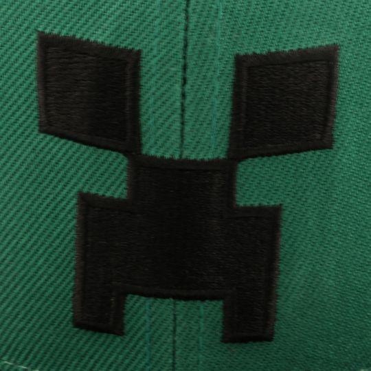 Бейсболка Creeper Minecraft (сетка) Вышивка-крипер