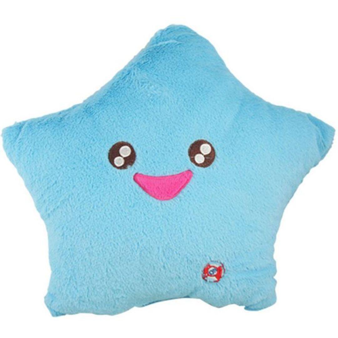 Светящаяся подушка Звездочка (Голубая)
