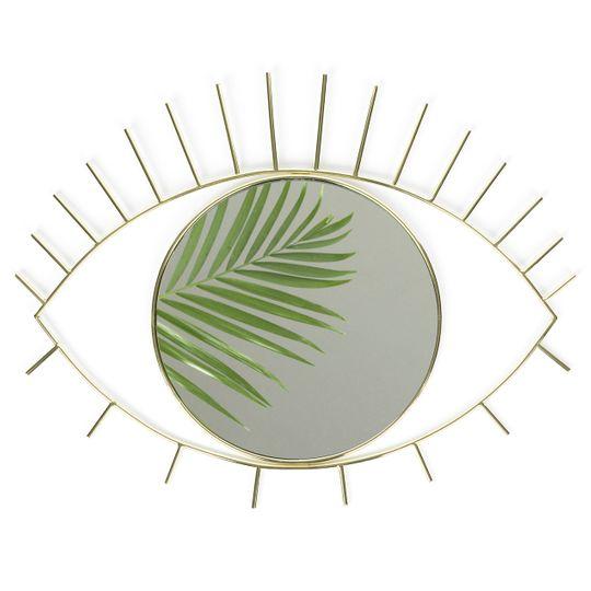 Зеркало настенное Cyclops (большое) (Золотистый)