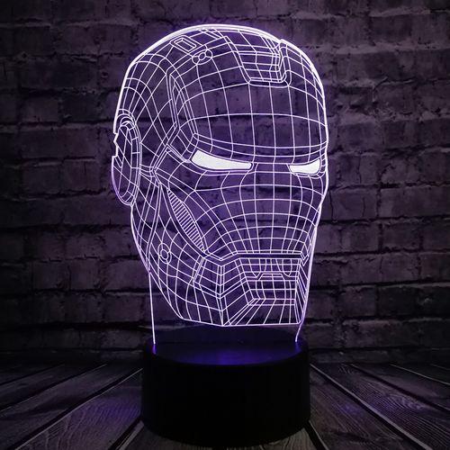Железный человек 3D светильник