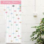 Календарь для планирования свадьбы Wedding Planner В интерьере