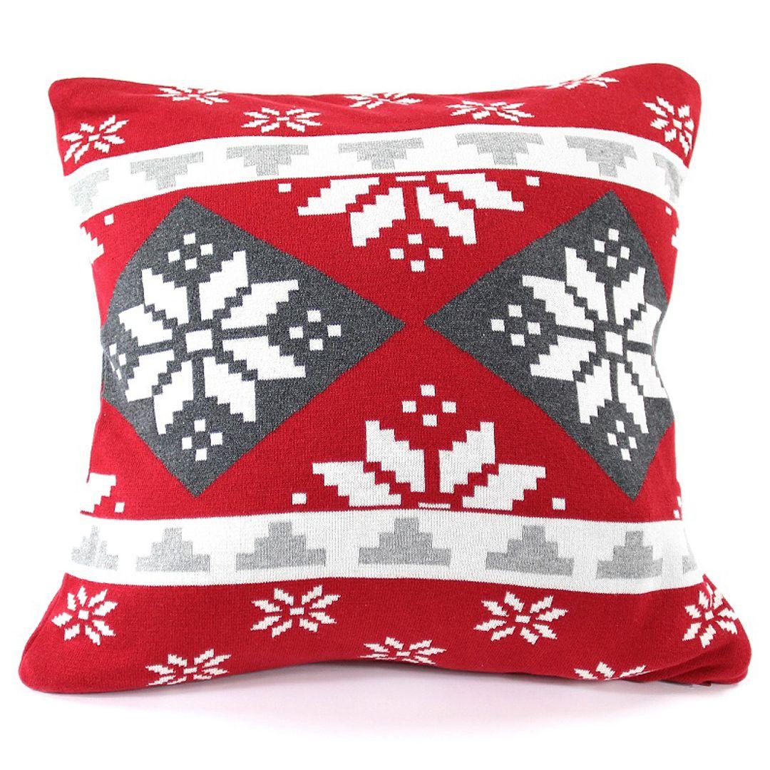 Подушка с орнаментом Christmas story