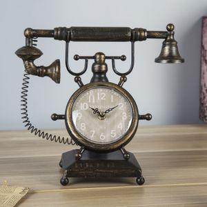 Винтажные часы Ретро-телефон