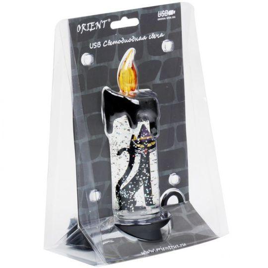 USB Светодиодная свеча Черная кошка