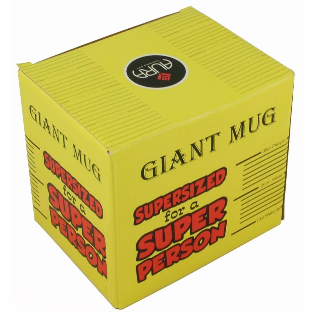 Гигантская кружка Supersized for a Super Person Упаковка