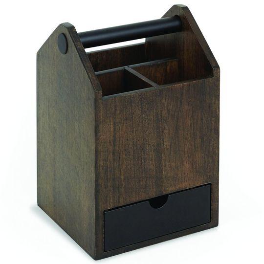 Органайзер для аксессуаров Toto Storage Box большой (Черный, орех)