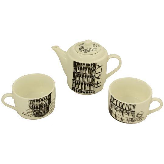 Чайный набор Италия Чайник и две чашки