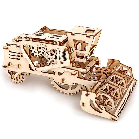 Механический 3D Пазл Ugears Комбайн Полностью деревянный