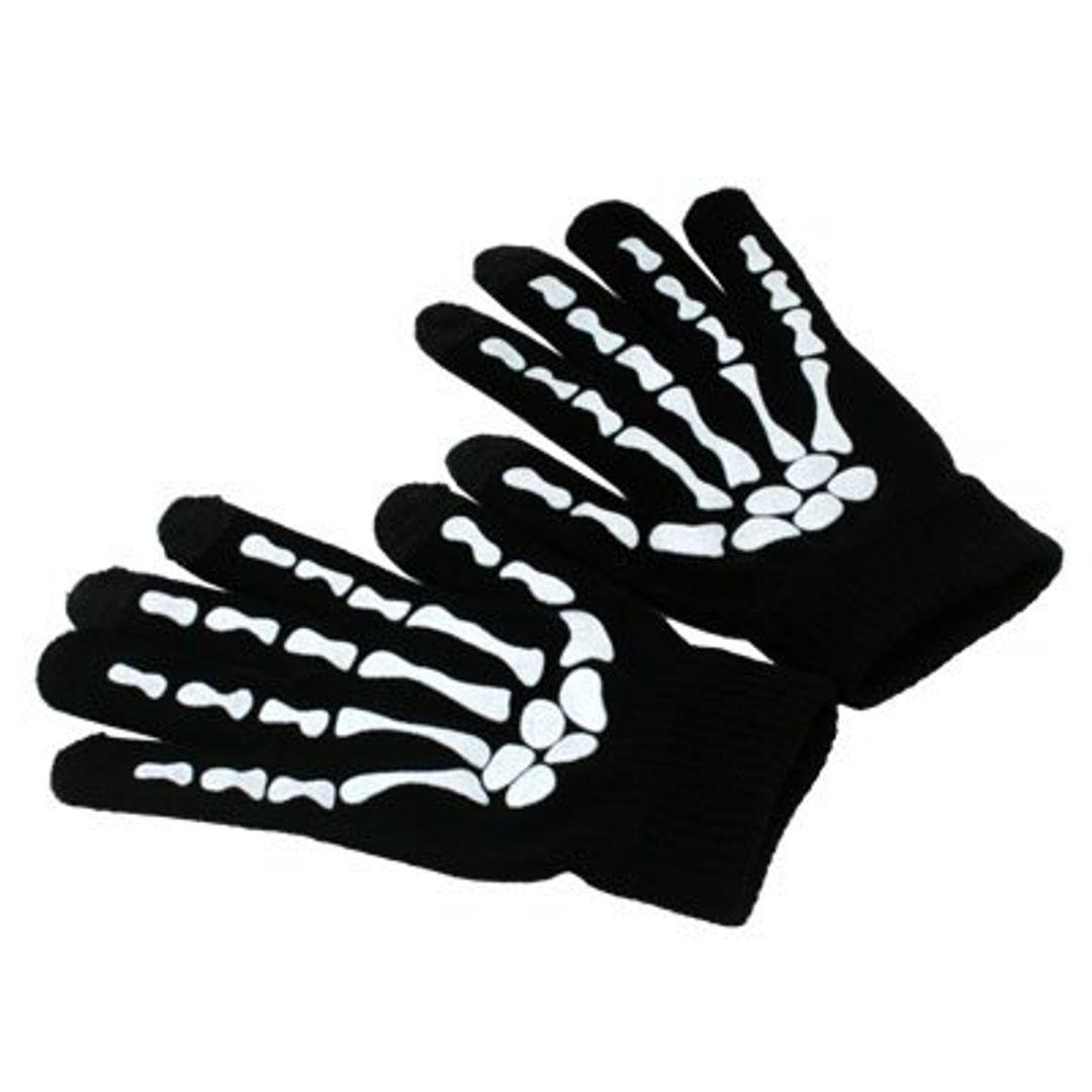 Перчатки для сенсорного экрана Скелет