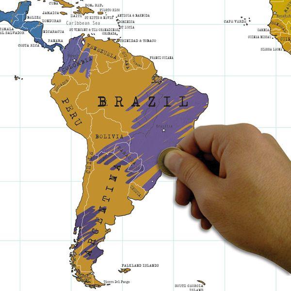 Скэтч-карту мира на английском языке