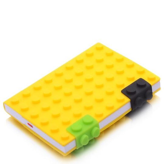 Блокнот Лего Маленький Желтый, кружочки