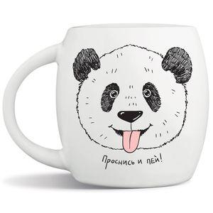 Кружка Панда Проснись и пей!