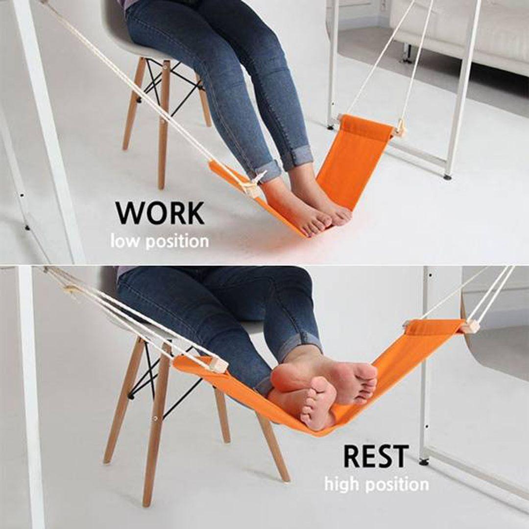 Гамак для ног (Оранжевый) Использование