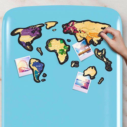 Скретч-карта мира<br>на холодильник