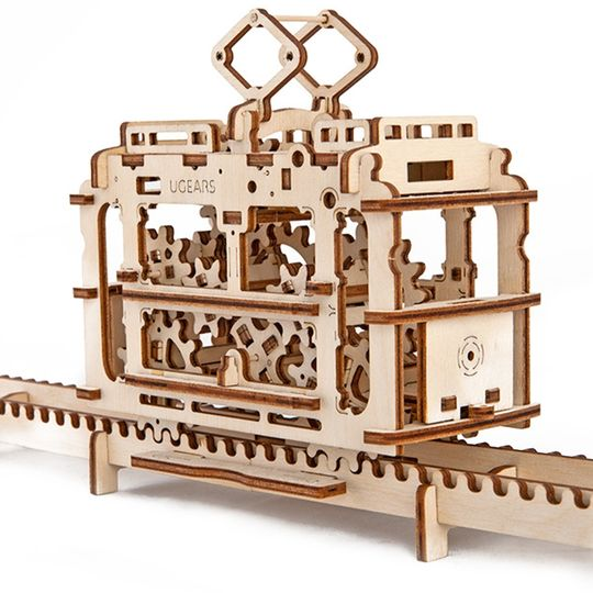 Механический 3D Пазл Ugears Трамвай