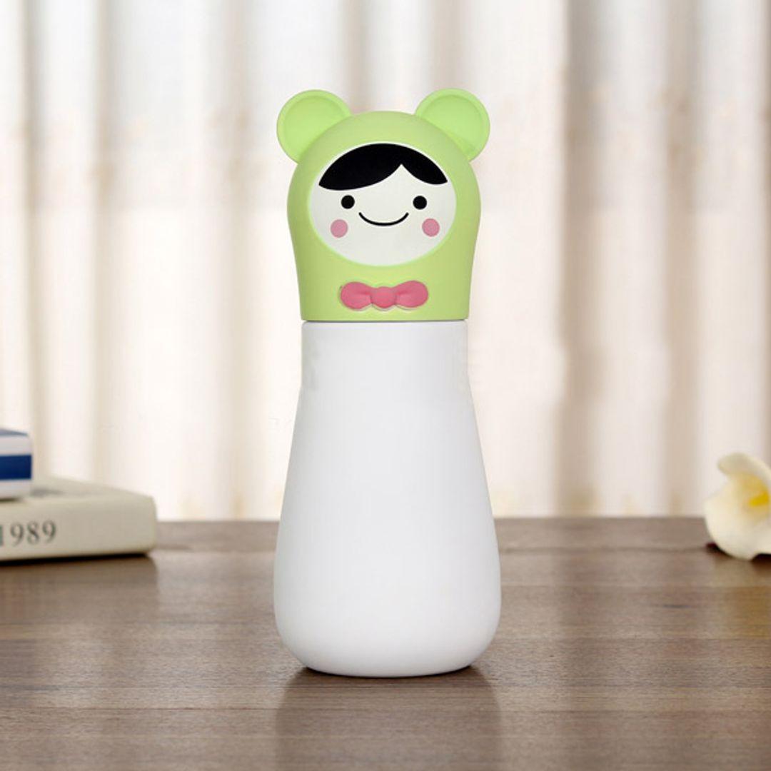 Кружка-термос Мишка Bear (Белый с зеленым)