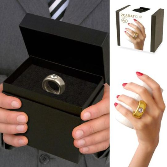 Кружка Кольцо с бриллиантом Черное