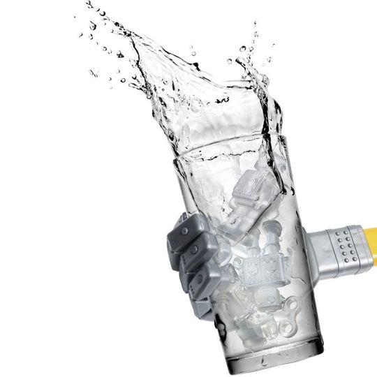 Форма для льда Робот Chill Bots Льдинки в стакане