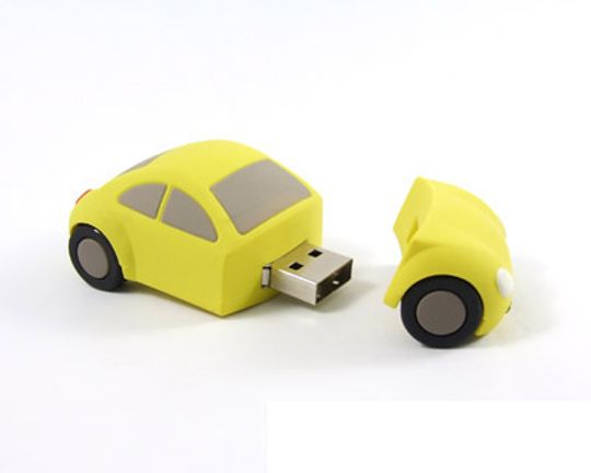 Флешка Машинка Желтая 4 Гб