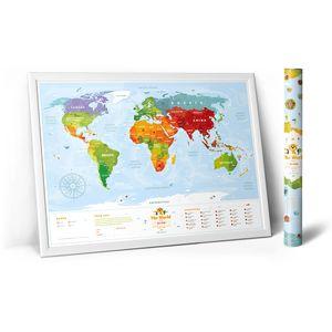 Развивающая карта мира для детей Travel Map Kids Animal (на английском)