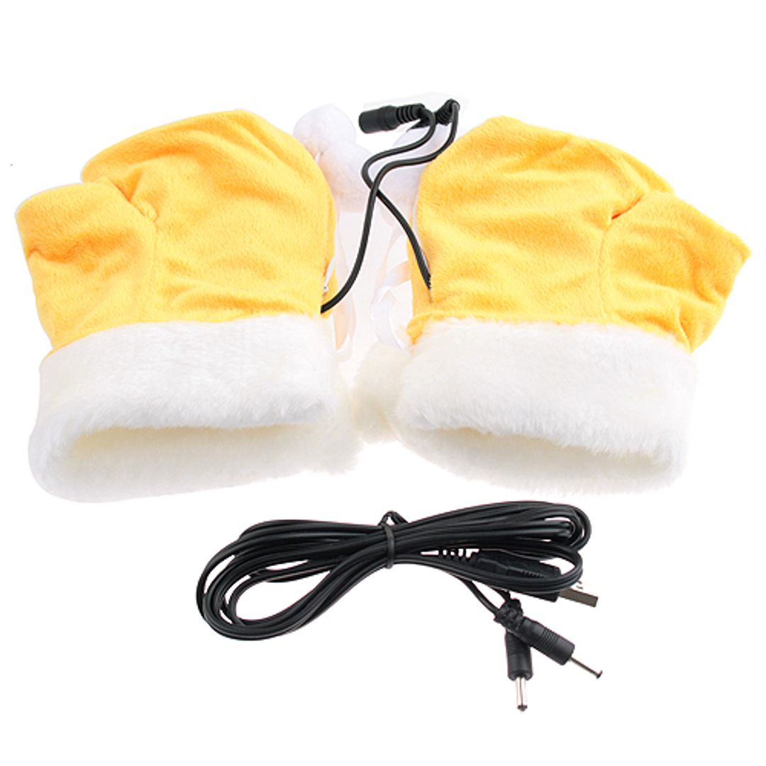 Перчатки с подогревом от USB Тигра