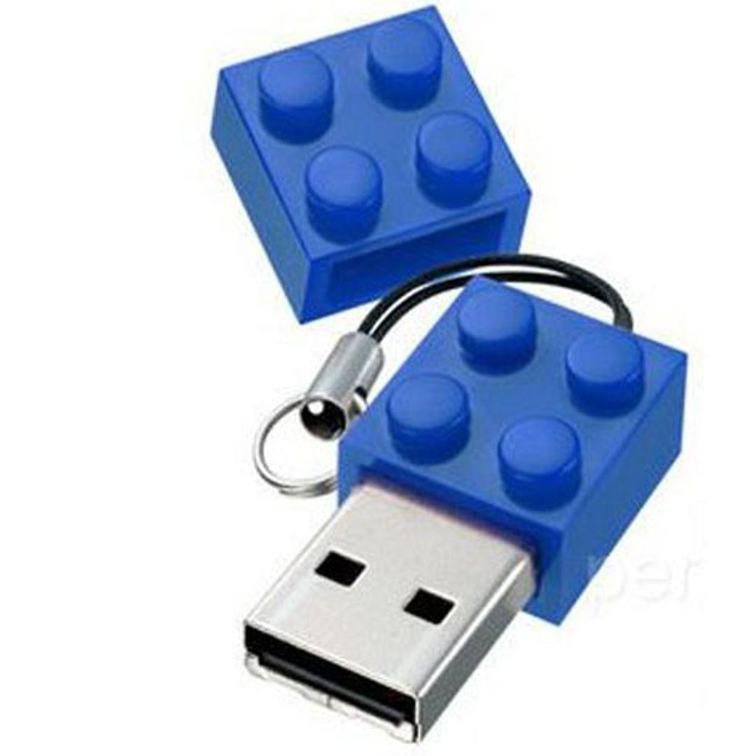 Флешка Лего 8 Гб (Синяя)