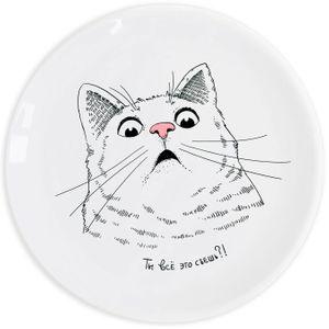 Тарелка Удивленный кот Ты все это съешь?!