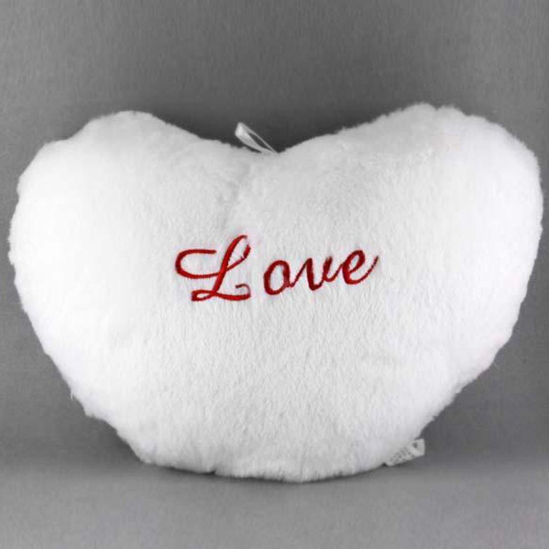 Светящаяся подушка Сердечко (Белая) Без подсветки