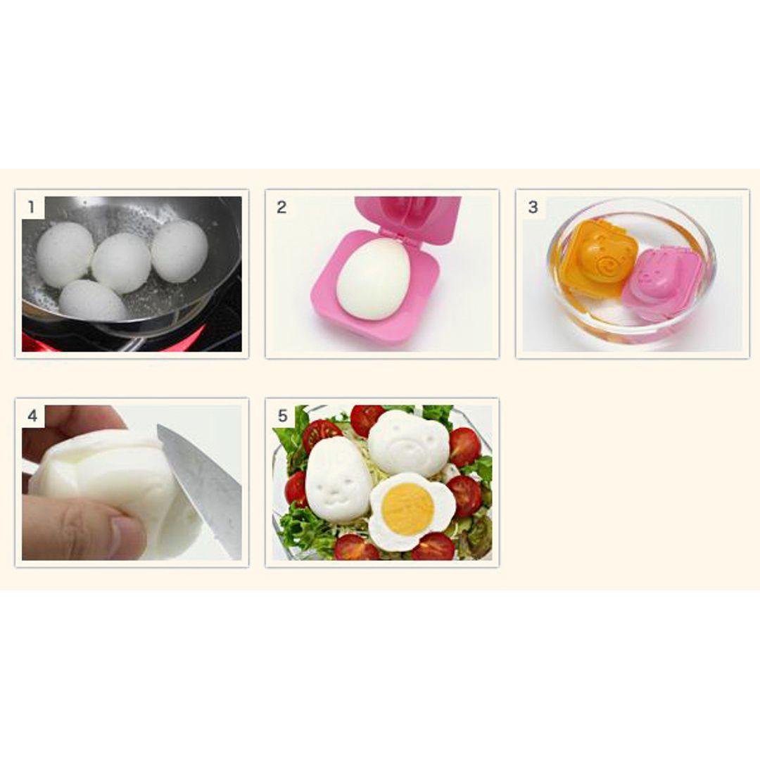 Форма для яиц и риса Мишка и Зайчик