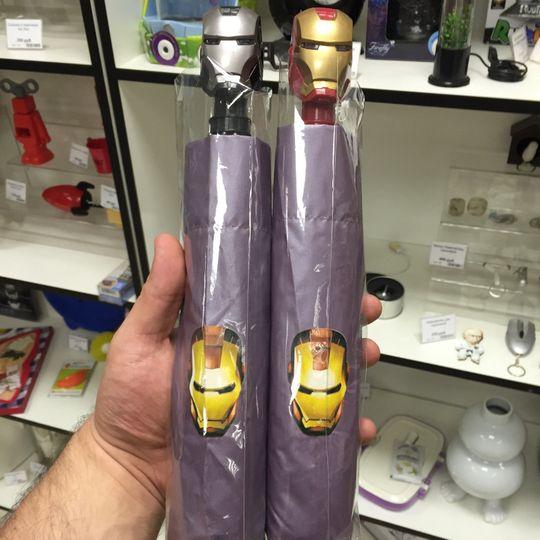 Зонт Железный человек Ironman Обе модели в упаковке