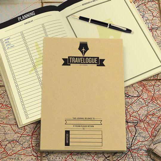 Журнал путешественника со скрэтч-картами Travelogue