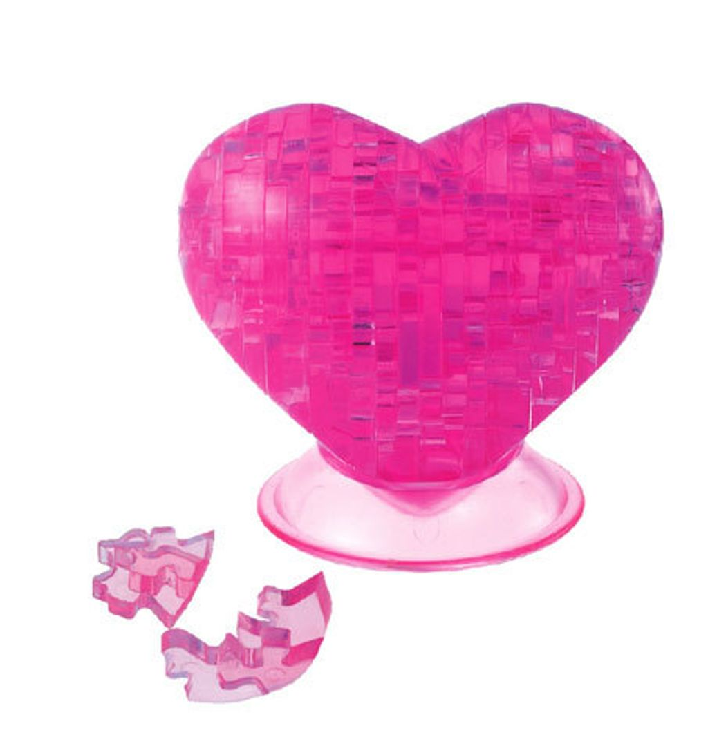 3D Пазл Сердце Розовое