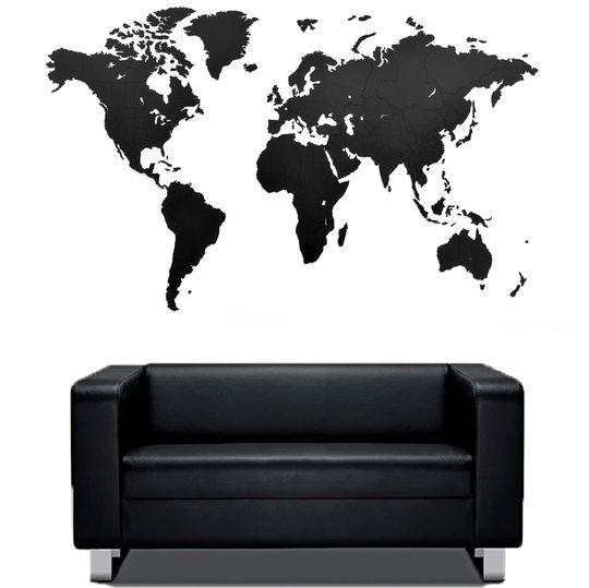 Пазл Карта мира True Puzzle Black XXL