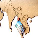 Декоративная Карта мира Wall Decoration Brown